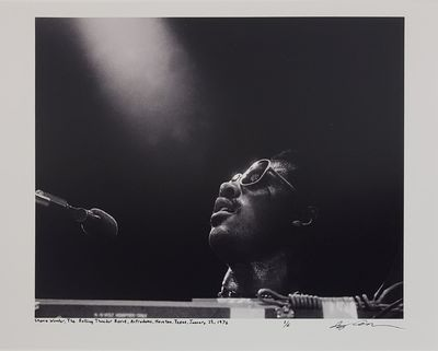 Houston, 1976. Limited edition (1 of 6). Description: Stevie Wonder at the Rolling Thunder Revue at ...