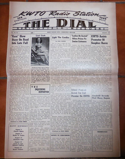 Springfield, MO: The Dial, 1947. First edition. Paperback. Very Good. Newspaper. Single issue of the...