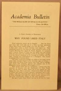 image of Why Pound Liked Italy (offprint from: Corriere della Liguria, 14th April 1956).