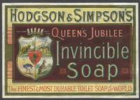 Hodgson & Simpson's Queen's Jubilee Invincible Soap; original artwork
