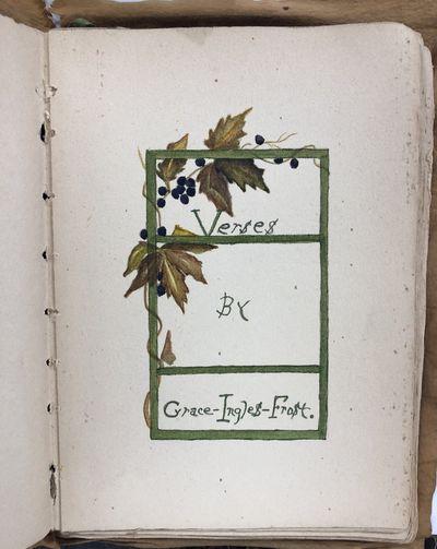 Verses [Manuscript Book of Poetry]