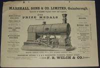 image of 1886 Illustrated Advertisement for Marshall, Sons & Co. Gainsborough  England