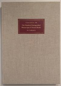One Hundred Distinguished Manuscripts and Printed Books (catalogue 188)