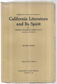 California Literature and Its Spirit: a Syllabus Od a Course of Literature