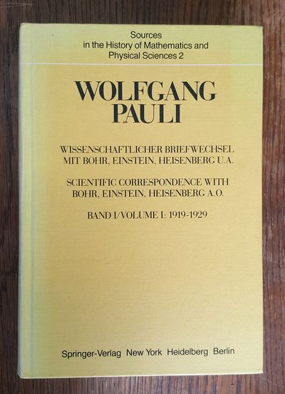 New York: Springer, 1979. German language edition. 2-inch thick octavo in yellow cloth with black le...