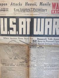 image of Los Angeles Examiner, Los Angeles, Monday, December 8, 1941: U.S. At War (Newspaper)
