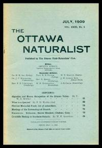 THE OTTAWA NATURALIST - Volume 23, number 4 - July 1909