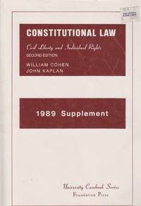 image of Constitution Law, Civil Liberty and Individual Rights 1989 Supplement