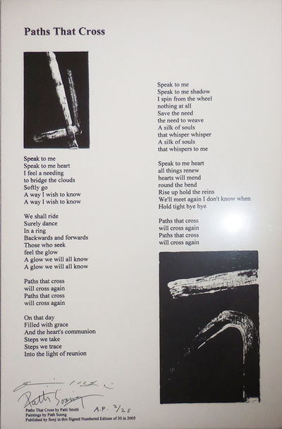 No Place: Path Soong, 2005. First edition. Loose Sheets. Fine. Single sheet broadside with a poem by...