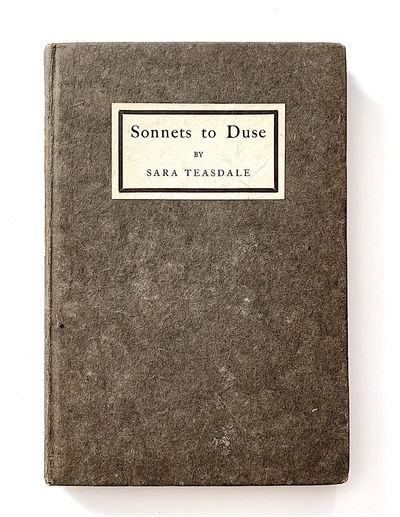Sonnets to Duse [first edition,...