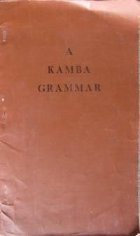 A Kamba Grammar