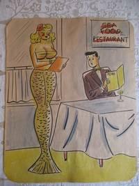 Risque, One Panel Gag, ORIGINAL CARTOON ART