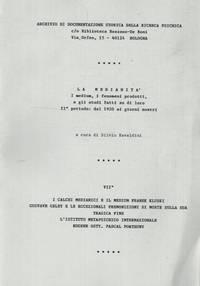 La medianità. I medium, i fenomeni prodotti, e gli studi fatti su di loro. II° periodo : dal 1920 ai giorni nostri.
