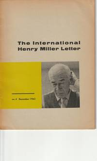 The International Henry Miller Letter, No. 4, December 1962