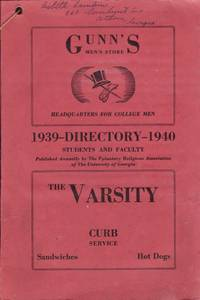 1939-1940 Directory of Students, Faculty, Administrative and Clerical Force of the University of Georgia