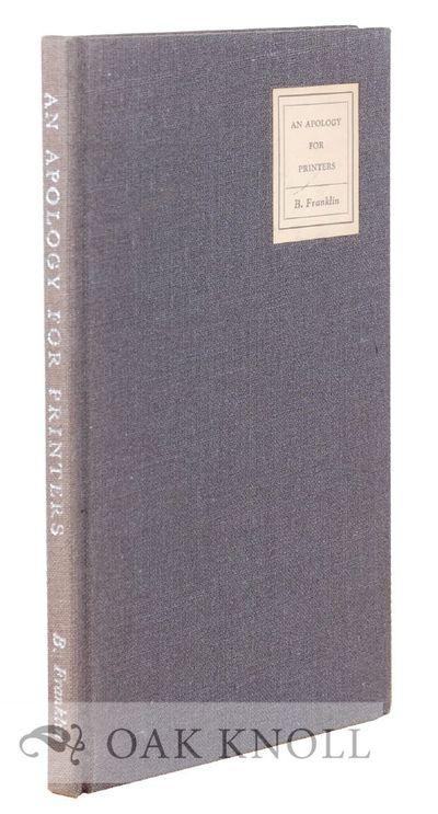 New York: Book Craftsmen Assoc, 1955. cloth, paper cover label. 12mo. cloth, paper cover label. xxv,...