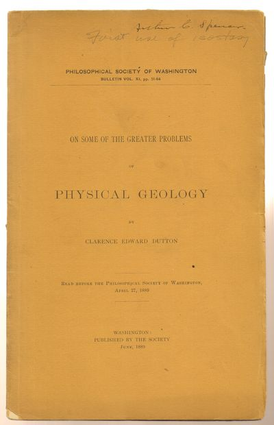 Washington, D. C.: Philosophical Society of Washington. Very Good. 1889. First Edition. Softcover. B...