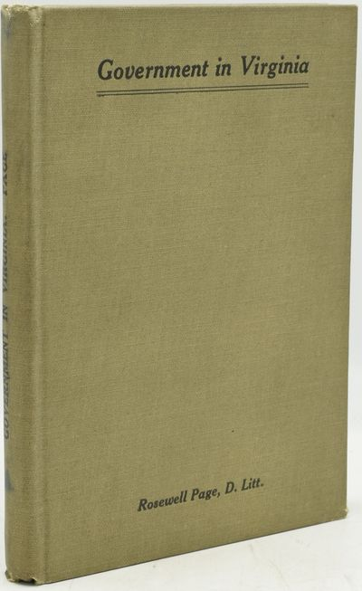 Richmond: Williams Printing Company, 1925. First Edition. Hard Cover. Very Good binding. Quite a nic...
