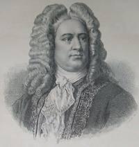 image of Antique Engraved Portrait of George Frideric Handel Composer