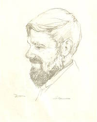 Original Pencil Drawing Portrait of D.H. Lawrence