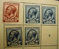Australia World War One. War Savings Booklet Including 5 War Savings stamps