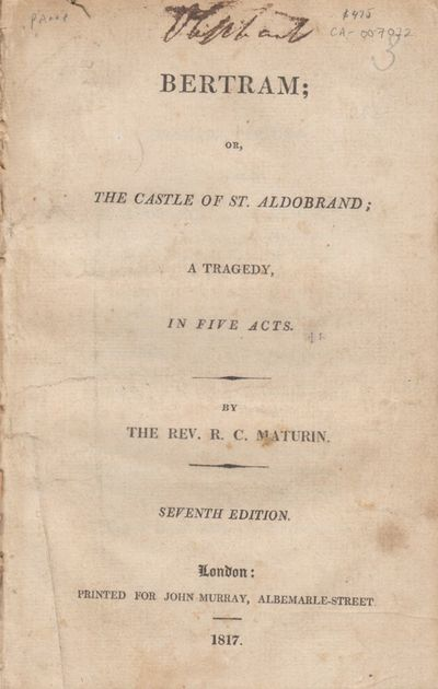London, UK: John Murray. Very Good. 1817. Later Edition. Softcover. Seventh edition. Previous owner ...
