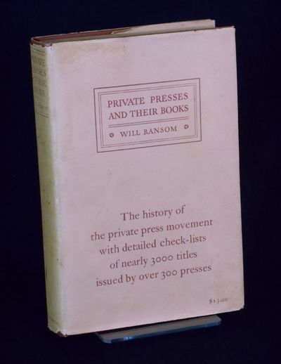 New York : R. R. Bowker Company , 1929. Limited Edition. Hardcover. Near Fine/good +. One of 1200 co...