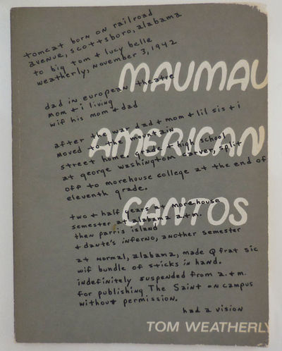 New York: Corinth Books, 1970. First edition. Paperback. Very Good. Wide paperbound octavo. A 47 pp ...