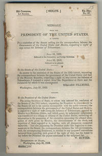 [drop-title] Message from the President of the United States, in answer to a resolution of the Senate calling for the correspondence between the government of the United States and Mexico, respecting a right of way across the Isthmus of Tehuantepec. July 28, 1852. Referred to the Committee on Foreign Relations. July 30, 1852. Ordered to be printed.