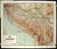 Karta Kraljevine Jugoslavije. (Map of Yugoslavia), by YUGOSLAVIA) -  1935 - from oldimprints.com and Biblio.com