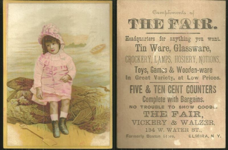 Image for VICTORIAN TRADE CARD FOR THE FAIR, ELMIRA, NEW YORK