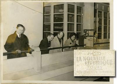 Tours: La Nouvelle Republique, 1950. Two original black-and-white single weight press photographs of...