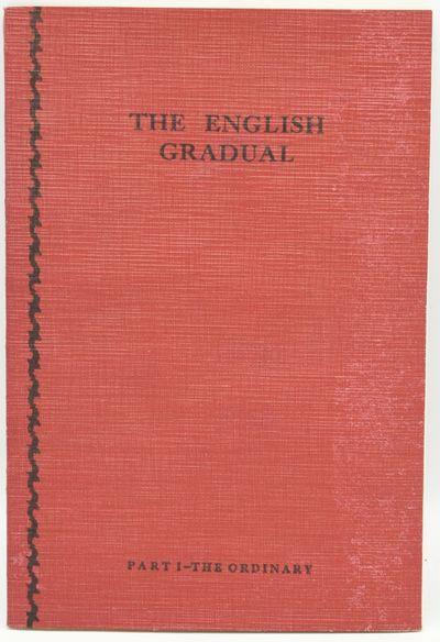 London: The Plainchant Publications Committee, 1961. Reprint Edition. Very Good binding. Red flexibl...