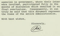 """President Richard M. Nixon Says His """"Nixon Doctrine"""", Which Provided for Vietnamization of the War, But Also Signaled Detente With China and the Soviet Union, Is """"an accurate reflection of my personal convictions with regard to our national security."""" He send his annual foreign policy report and this extraordinary, heart-felt endorsement of his foreign policy advisor Lewellyn Thompson ."""