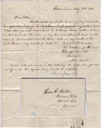 One-page Mexican-American War letter from a newly appointed ensign in the Missouri Volunteers as his unit prepared to depart Camp Lucas in Missouri on the Great Platte River Road in route to establishing Fort Kearny for protection of the Oregon Trail