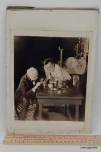 [ Photograph ] A Wonderful Image of Thomas Edison and Charles Steinmetz Examining Insulators