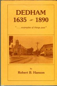 Dedham, Massachusetts 1635-1890