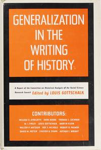 Generalizations In the Writing of History