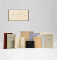 A collection of notebooks, offprints, and books from the estate of Max Newman.