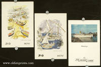 S. S. Himalaya. / Feluccas in Red Sea. / Fishing Boats - Portugal. THREE MENUS