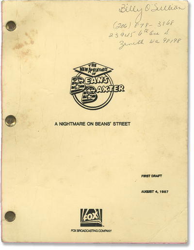 London: Fox, 1987. First Draft script for Season One Episode 13 of the 1987 television program, orig...