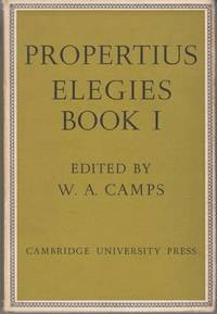 image of Propertius: Elegies: Book 1