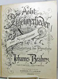 Acht Zigeunerlieder f?r eine Gipsy Songs- Singstimme mit Begleitung des Pianoforte. op. 103. Ausgabe f?r tiefe Stimme by Johannes Brahms; Mrs. John P. Morgan (English Text) by Johannes Brahms; Mrs. John P. Morgan (English Text) - from Barner Books (SKU: HH-111412-AA)
