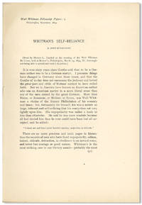 ... WHITMAN'S SELF-RELIANCE .... [caption title]