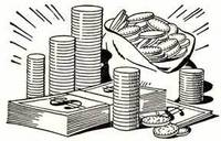 A big pile of money