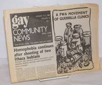 image of GCN: Gay Community News; the weekly for lesbians and gay males; vol. 16, #5, August 7-13, 1988; A PWA Movement of Guerilla Tactics