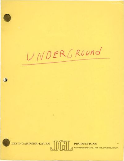Beverly Hills, CA: United Artists, 1968. Draft script for the 1970 film. Occupied France during WWII...
