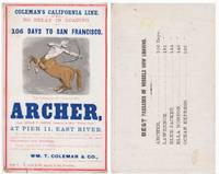Clipper Ship Sailing Card for the Archer.
