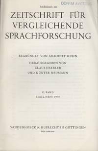 Zur Altpersischen Syntax (DB III 12-14) [Extract from Zeitschrift fur Verglechende...