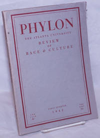 image of Phylon: the Atlanta University  review of race and culture vol. 3, #1; first quarter 1942